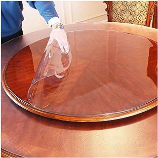 LICHUN PVC Manteles Transparente Mantel Redondo Protector De Mesa Hogar Decoración Alfombras De Piso Impermeable Anti-esca...