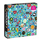"""Galison Fun Flair Jigsaw Puzzle, 500 Pieces, 20""""x20"""" – Features an Image of a Cool Collection of Embroidered Patches and Pins – Challenging, Perfect for Family Fun – Fun Indoor Activity"""