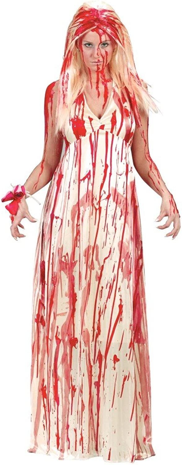 Shoperama bloodstained Carrie costume for women, prom nightmare zombie, bride, virgin, horror film