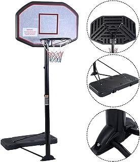 "Movement God Pro Court Height-Adjustable Portable Basketball Hoop System with 43"" Backboard (Black Backboard)"