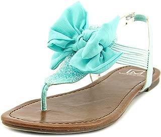 Womens Swan 2 Split Toe Casual T-Strap Sandals, Blue, Size 6