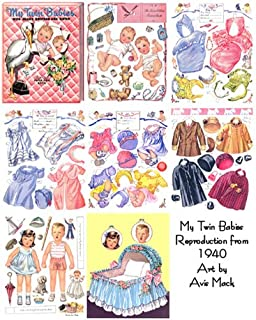 MY TWIN BABIES Restored/reprinted 1940 Paper Doll Book