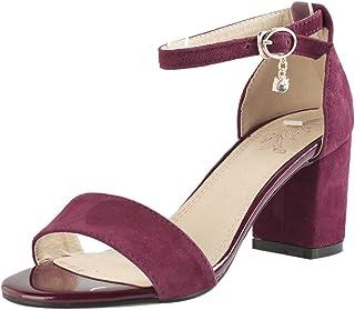 VulusValas Women Block Heel Dress Sandals