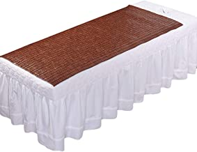 YJFENG Mattress Topper Summer Sleeping Mats Mattress Protector Beauty Salon Dorm Room Single Bed Smooth Breathable,10 Sizes,2 Colors (Color : Brown, Size : 70x160cm)