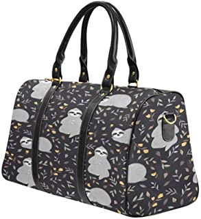 InterestPrint Carry-on Garment Bag Travel Bag Duffel Bag Weekend Bag Colourfull Owl Pattern for Kids