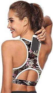 Civitis Women's Back Pocket Energy Sport Bra for Yoga Gym Workout Women's Sport Running Bra