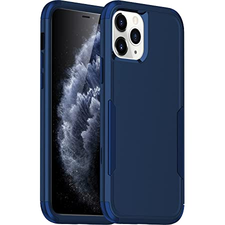 LStiaq Compatible with iPhone 11 pro max Armor Case - [Rugged + Protective] Tough Grip Cover (Blue)