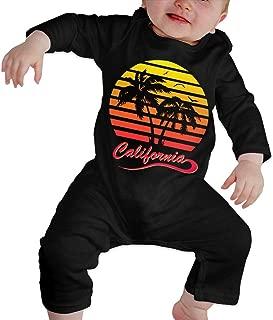 California 80s Sunset Baby Boy Girl Long Sleeve Bodysuit Baby Rompers Onsies