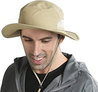 Peicees 钓鱼帽夏季太阳波尼帽 UPF 50+ 防紫外线宽边帽 防水 Safari 帽 男女皆宜 | 适合探险狩猎野营徒步旅行海滩的*渔夫帽