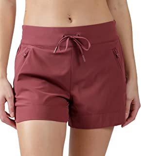 90 Degree By Reflex Stretch Woven Lightweight Walking Shorts with Side Pockets