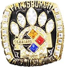 Gloral HIF 2005 Pittsburgh Steelers Super Bowl Championship Ring Collectible for Gifts Size 11 with Display Box