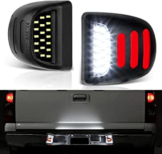Full LED License Plate Light Tag Lamp Assembly Replacement For Cadillac Escalade Chevy Silverado Tahoe Suburban GMC Sierra 1500 2500 3500 Yukon XL with 36 LED Plug and Play Waterproof, Xenon White