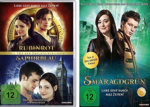 Rubinrot / Saphirblau + Smaragdgrün im Set - Deutsche Originalware [3 DVDs]