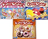 Popin' Cookin' DIY Candy Kit (3 Pack Variety) - Tanoshii Cakes, Sushi and Donuts from Kracie