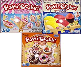 Popin' Cookin' DIY Candy Kit (3 Pack Variety) - Tanoshii Cakes, Sushi and Donuts