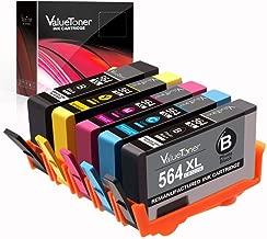 Valuetoner Remanufactured Ink Cartridge Replacement for HP 564XL 564 XL for Officejet 4620, Photosmart 5520 6520 7520 6515 5514 C410, Deskjet 3520 3522 Printer (Black/Cyan/Magenta/Yellow/Photo Black)