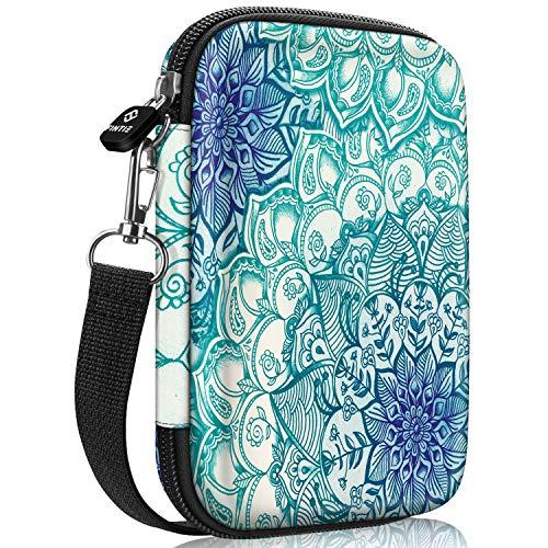 Fintie Tasche für HP Sprocket Plus/FUJIFILM Instax Mini Link Mobiler Fotodrucker - Premium Starke Hartschalen Fotodrucker Tragen Fall Tragetasche Tasche,Smaragdblau