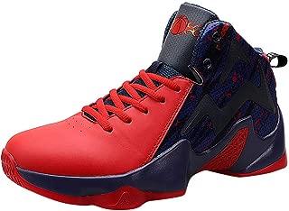 Shoes for Men, Basketball Breathable Running Walking Casual Shoes Breathable Black Slip Elastic Sneaker Balls Wear-Resistant Clunky Sneakers Men, FULLSUNYY