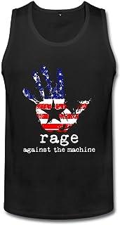 メンズ プライベートカスタム Rage Against The Machine アメリカ 星条旗 ランニング シャツ カジュアル Black