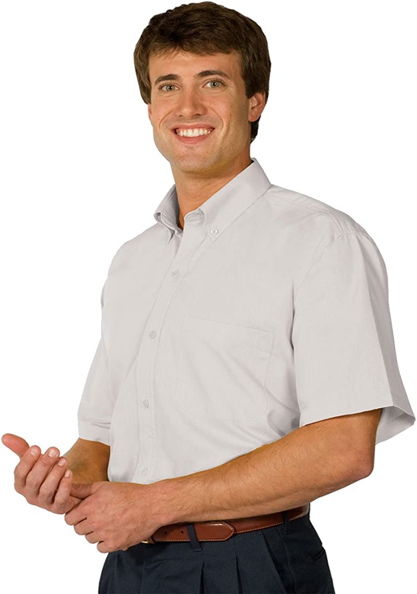 Edwards Garment Men's Big And Tall Wrinkle Resistant Poplin Shirt_WHITE_5XLT