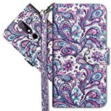 MRSTER Nokia 6.1 Plus Handytasche, Leder Schutzhülle Brieftasche Hülle Flip Hülle 3D Muster Cover mit Kartenfach Magnet Tasche Handyhüllen für Nokia 6.1 Plus 2018. YX 3D - Peacock Flower