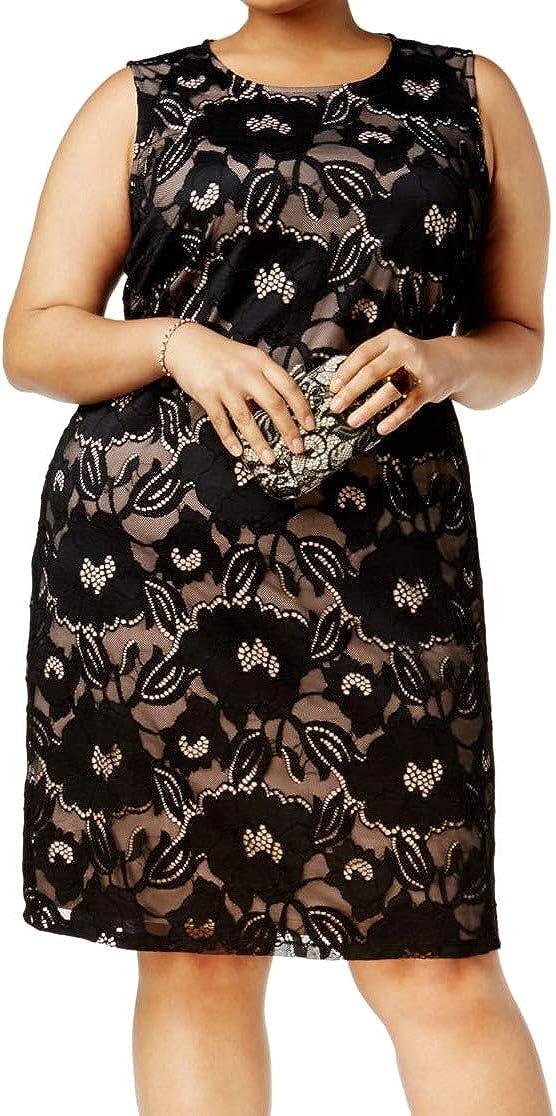 NINE WEST Women's Plus Size Floral Lace Dress