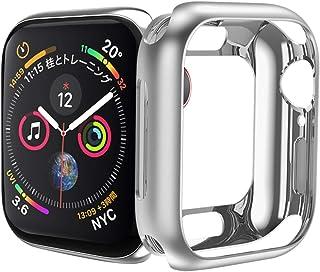 HOCO コンパチブル Apple Watch Series5/4 ケース アップルウォッチ カバー 44mm メッキ TPU ケース 耐衝撃性 超簿 脱着簡単 アップルウォッチ 保護ケース Apple Watch 5/4に対応(シルバー/44mm)