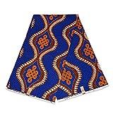 Afrikanischer Stoff, blau, orange, königliche Straßen,