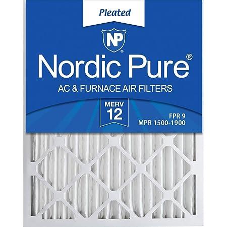 Nordic Pure 14x25x1 MERV 12 Tru Mini Pleat AC Furnace Air Filters 2 Pack