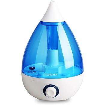 HOMETEK Drop Shape Ultrasonic Cool Mist Humidifier Water Tank 3L Capacity Ultrasonic Humidifier Cool Mist Ultrasonic Mist Cool Humidifier Refills