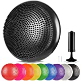 arteesol Balance Disc Wobble Cushion Office Chair Cushion Stability Ball Support for Office Desk Chair to Improve Sitting Posture, Lower Back Pack Relief Balance Pad for Kids Adults (Black)