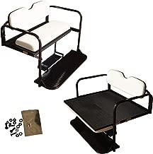 Performance Plus Carts Club Car Precedent Golf Cart Flip Folding Rear Back Seat Kit - White Cushions