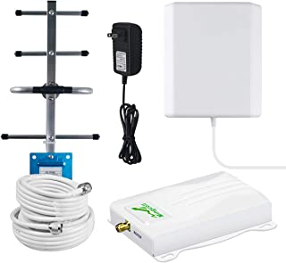 Cell Phone Signal Booster 4G LTE AT&T Signal Booster, Mingcollet 700MHz Band 12/17 Cell Signal Booster Cellular Amplifier Repeater for Home ATT T-Mobile - Boost 4G Data & Voice