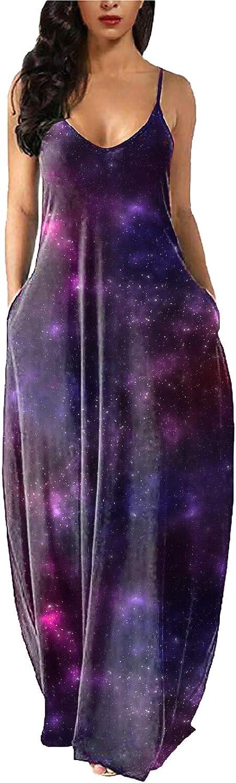 Dealing full price reduction Maxi Dress for Women Fashion Straps Spaghetti Sleeveless Mysteri Denver Mall