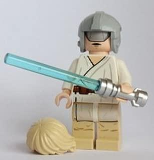 LEGO Star Wars Minifigure - Luke Skywalker with Grey Visor on Head - Helmet & Lightsaber