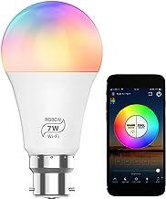 مصباح LED 100-264 فولت 7 وات بدون أسلاك اتصال واي فاي+ BT موصل لمبة ليد B22 قاعدة مقبس تحكم الإضاءة تدعم تطبيق الهاتف / ال...