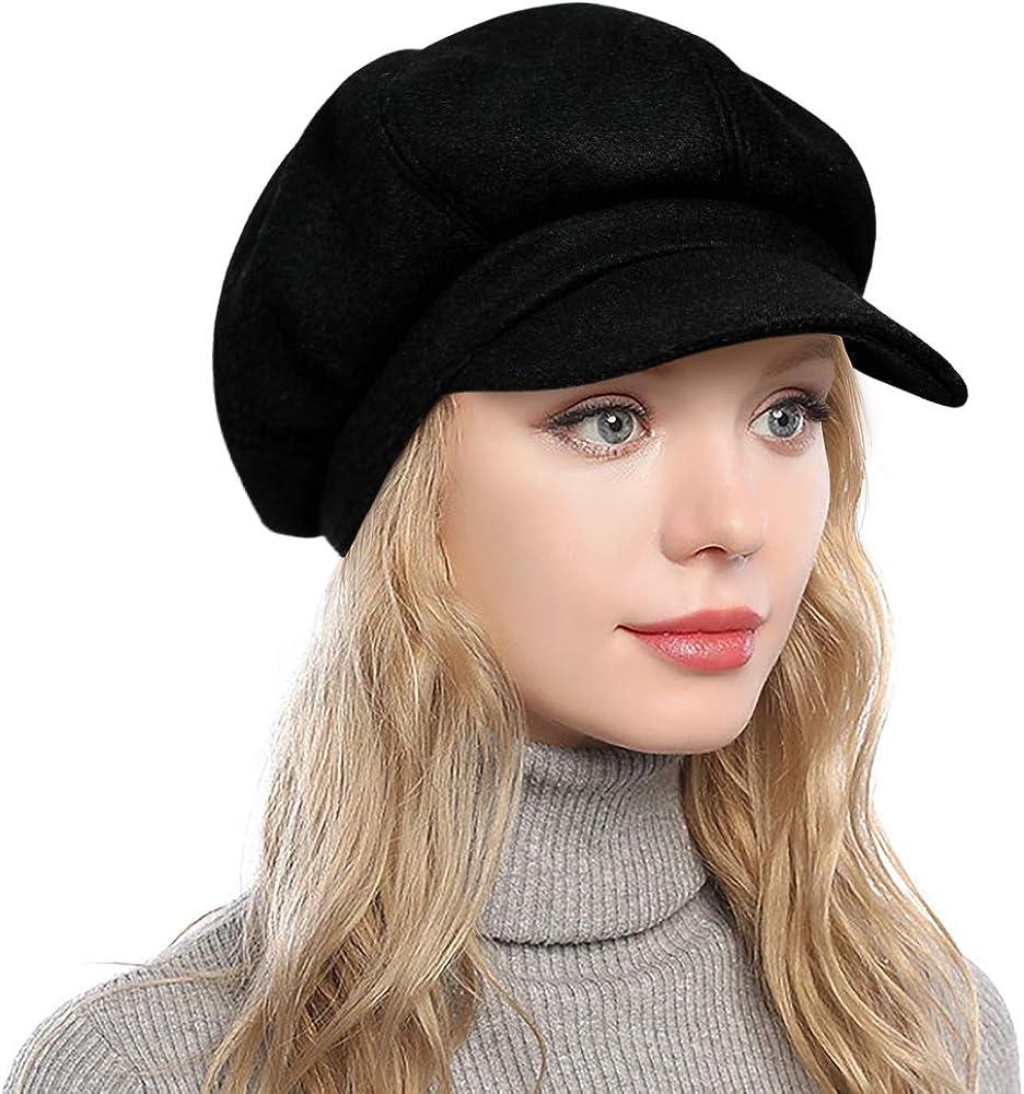 PanPacSight Women's Newsboy Hats Fall Charlotte Mall Wool Spring new work Gi Cabbie Tweed Beret
