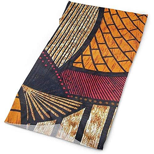 Outdoor Sports Bandana Headbands Hot and Warm African Wax Print Multifunctional for Outdoor and Sport Activities