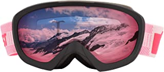 MONKEY FOREST Ski Goggles Women, Super Soft Helmet Compatible Snowboard Goggles for Men Youth with Comfortable 100% UV Protection