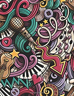 Music & Lyrics by:: A cool sheet music notebook for budding musicians and songwriters - graffiti (Songwriting Journals)