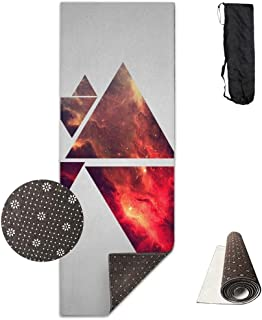 Abstract Structure Pyramids Deluxe,Yoga Mat Aerobic Exercise Pilates Anti-Slip Gymnastics Mats