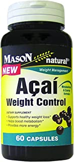 Sponsored Ad - Mason Vitamins Acai Weight Control Capsules, 60-count Bottles (Pack of 2)