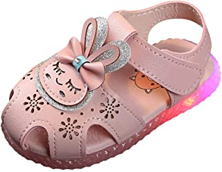 Lanhui Children Boots for Baby Girls Boys Winter Warm Rabbit Crystal Cartoon Short Shoes