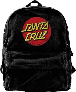 Santa Cruz - Mochila de lona clásica negra para estudiantes, caminar, trabajo
