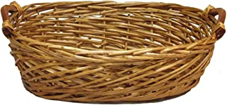 Admired By Nature Split Woody Oval Shape w/Wood Ear Handles Tray, Gift, Willow Basket, Honey