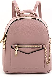 EMPERIA Kayli/Kora Faux Leather Mini Fashion 3 Way Carry Backpack Casual Lightweight Rucksack Daypack for Women