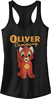 Oliver & Company Juniors' Kitten Portrait Racerback Tank Top