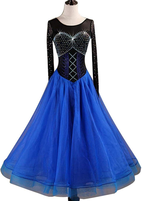 H&Q High-end diamond ballroom dance costume, waltz make dress