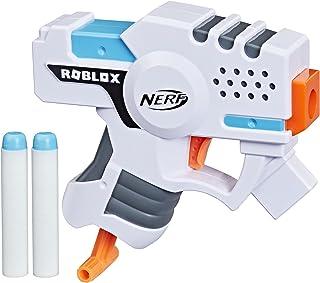 NERF Roblox Strucid: Boom Strike Dart Blaster, Pull-Down Priming Handle, 2 Elite Darts, Code to Unlock in-Game Virtual Item
