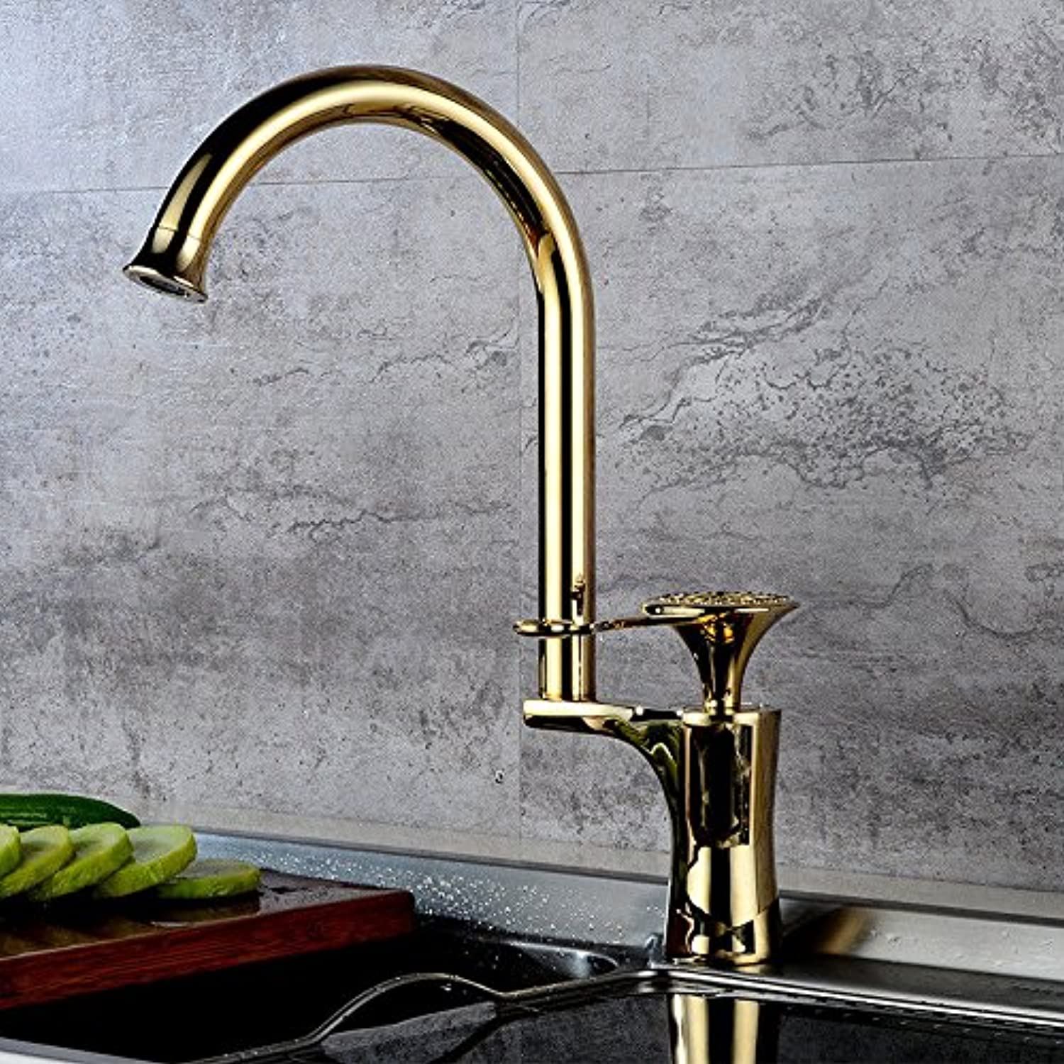 Gyps Faucet Basin Mixer Tap Waterfall Faucet Antique Bathroom Antique simple full copper hot and cold kitchen sink faucet kitchen faucet B as a whole. Bathroom Tub Lever Faucet